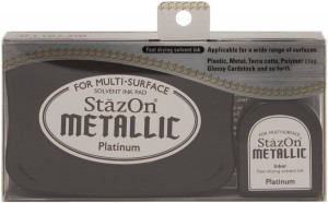 Tinta StazOn Metalic Platinum