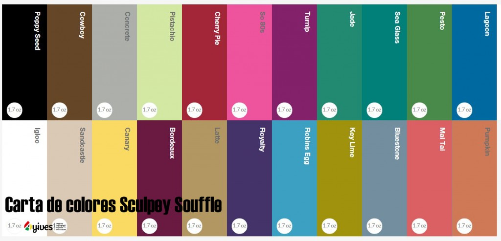 carta de colores sculpey souffle